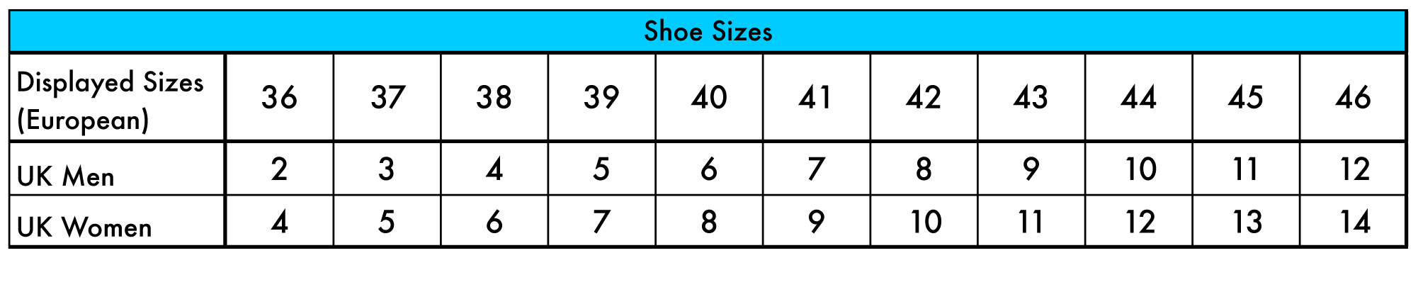Comparing European, UK, US sizing in clothing, shoes, shirts and sweaters Engineering ToolBox - Resources, Tools and Basic Information for Engineering and Design of Technical Applications! - the most efficient way to navigate the Engineering ToolBox!